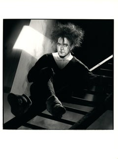 Robert Smith of The Cure Sitting on Ladder Vintage Original Photograph