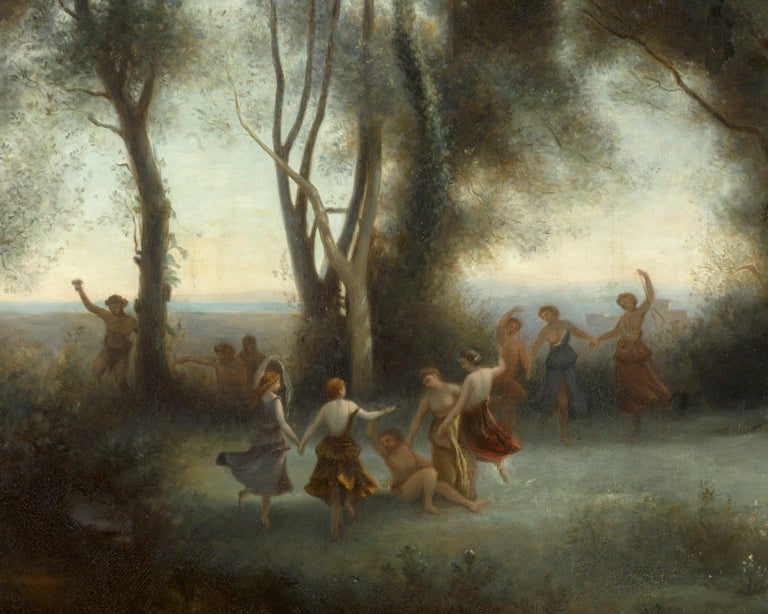 Dance of the Nymphs - Academic Painting by Paul Desire Trouillebert