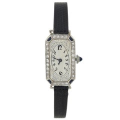 Paul Ditisheim Art Deco Diamond Sapphire Watch