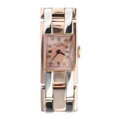 Paul Ditisheim Solvil 14 Karat Rose Gold Tank Watch Vintage, 1940s