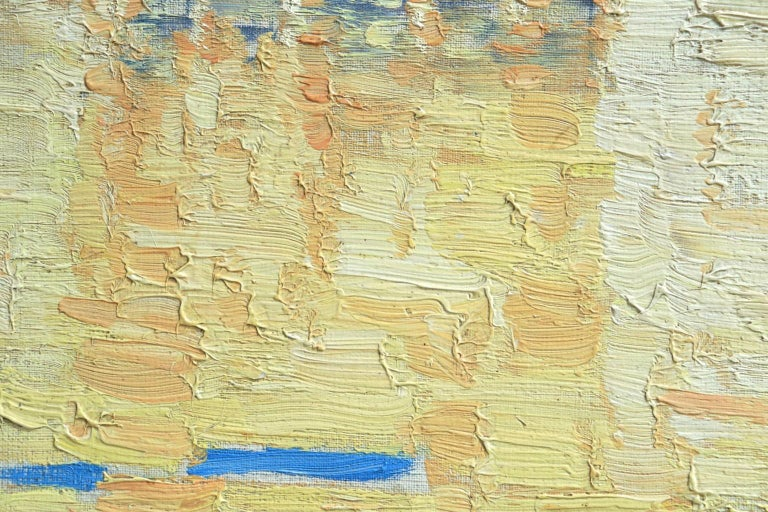 Venice - Orientalist Oil, Gondola on the Canal Landscape by Paul Elie Dubois - Post-Impressionist Painting by Paul Dubois