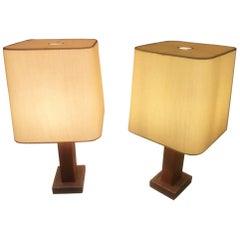 Paul Dupre-Lafon for Hermes Paris, Pair of Table Lamp, circa 1930s
