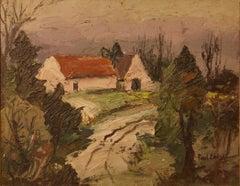 English Farmhouse Impressionist Piece