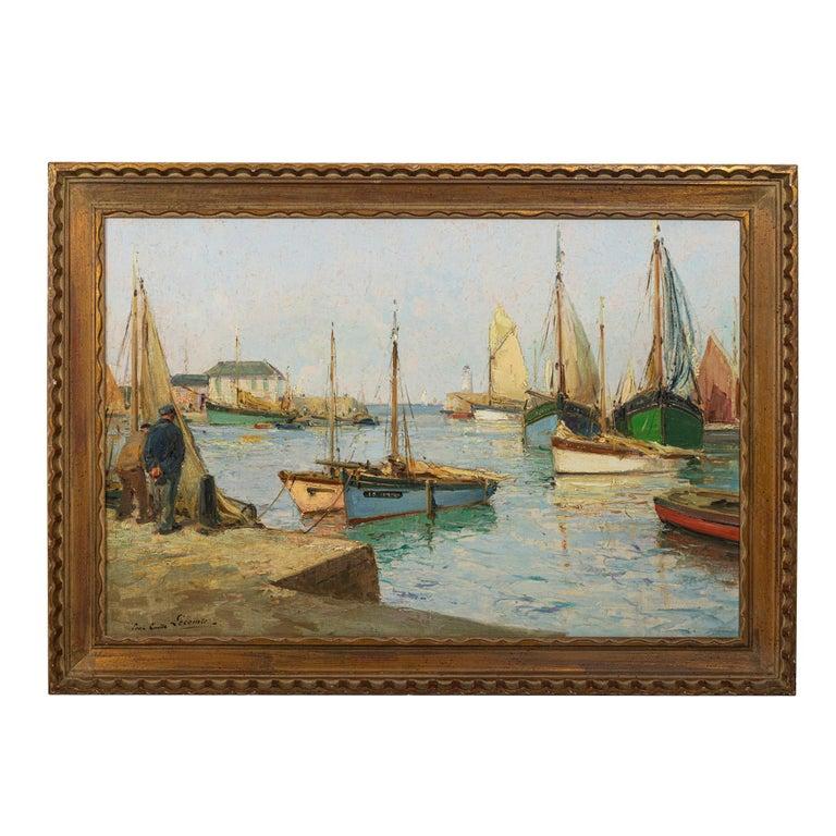 Paul Emile Lecomte 1877-1950 Oil on Canvas,