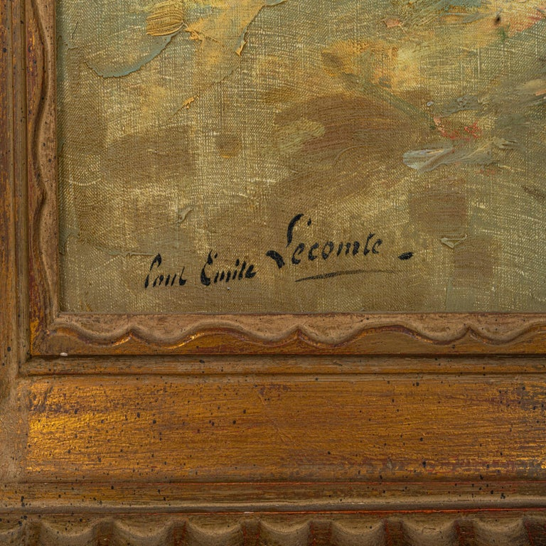 20th Century Paul Emile Lecomte 1877-1950 Oil on Canvas,