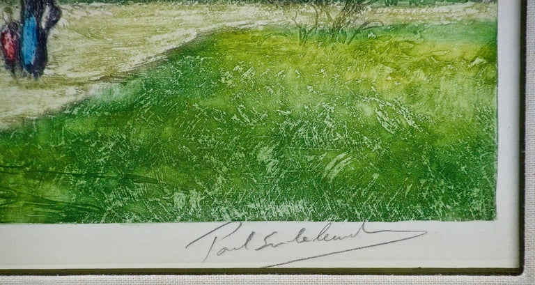 A Signed Etching of a Pastoral Scene in Picardy, France by Paul Emile Lecomte For Sale 3