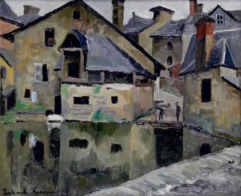 Paul Emile Pissarro– 1884-1972 LA LAVANDIÈRE, 1928 Oil on canvas signed and dated lower left. Measures: 46 x 55 cm.
