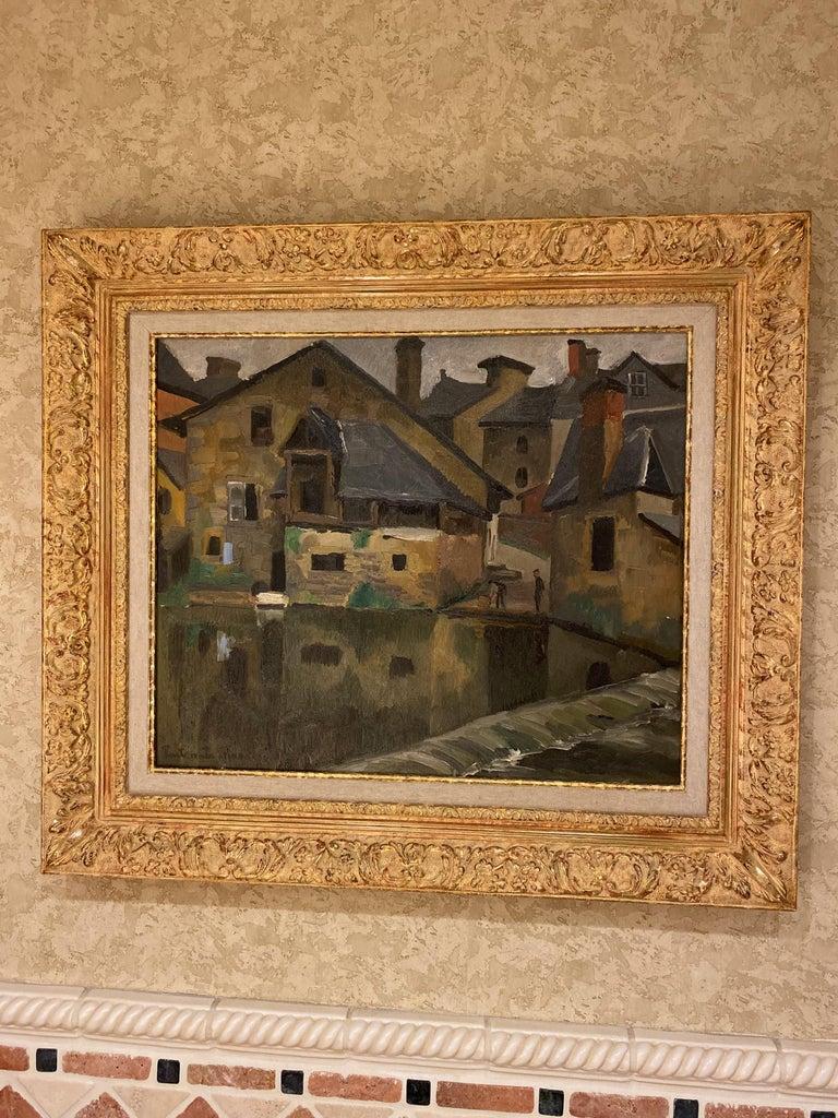 Oiled Paul Emile Pissarro, LA LAVANDIÈRE, 1928 For Sale