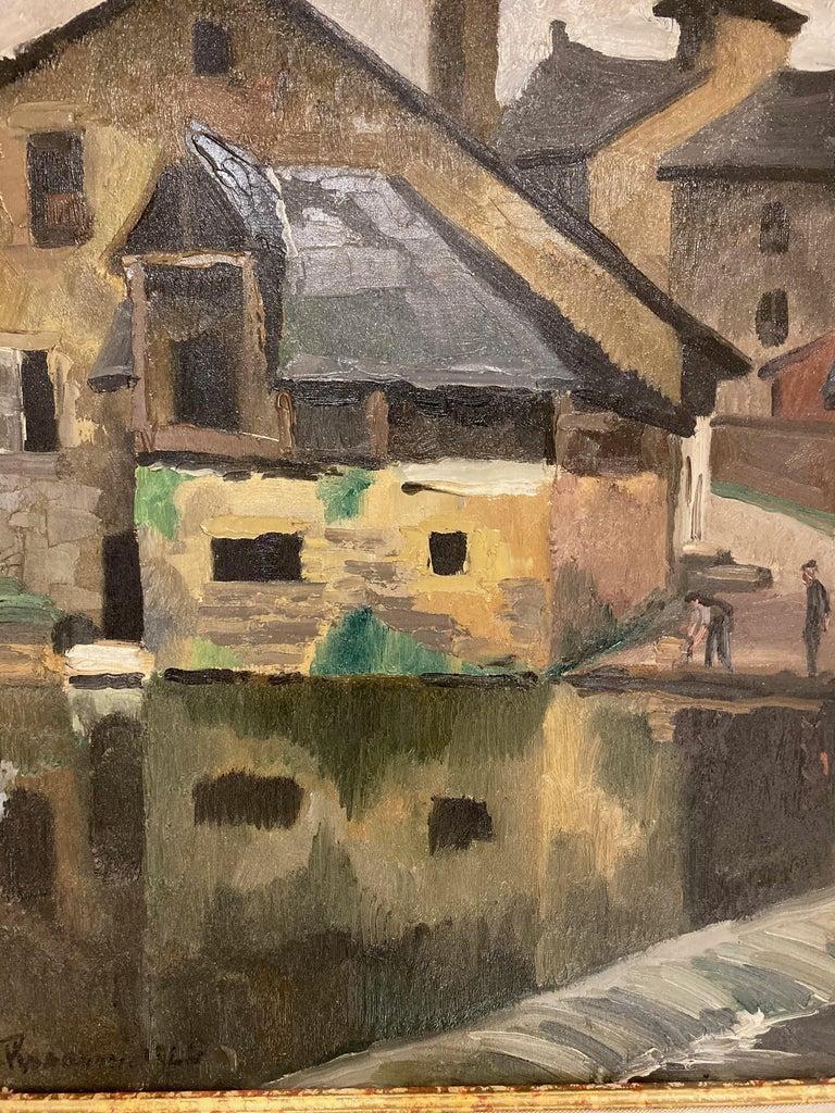 Paul Emile Pissarro, LA LAVANDIÈRE, 1928 In Excellent Condition For Sale In Washington Crossing, PA