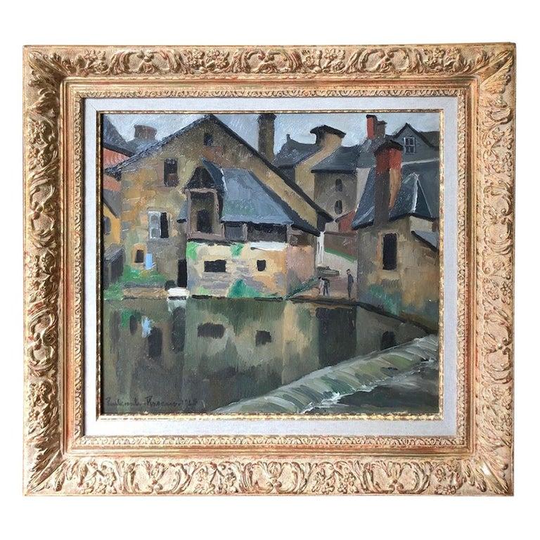 Paul Emile Pissarro, LA LAVANDIÈRE, 1928 For Sale