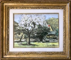 Landscape With Blooming Trees