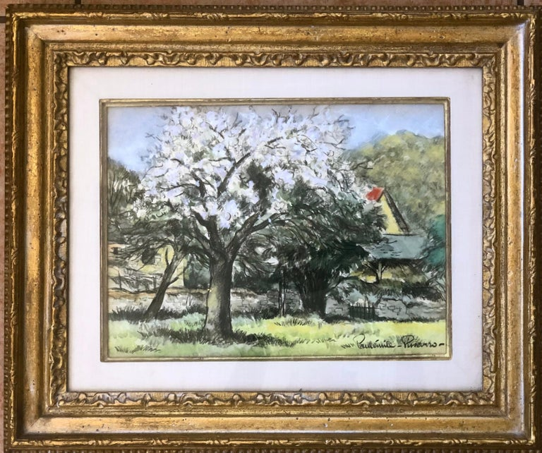 Paul Emile Pissarro Landscape Painting -   Landscape With Blooming Trees