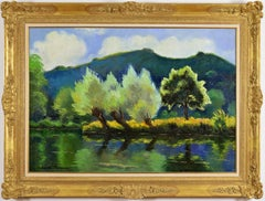 Bord de rivière by PAULÉMILE PISSARRO - Post-Impressionist landscape/waterscape