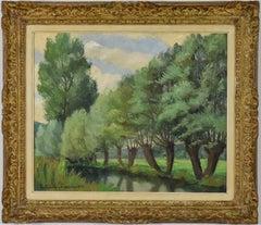 Bord de Rivière, Lyons-la-Forêt by Paulémile Pissarro - Post Impressionist art