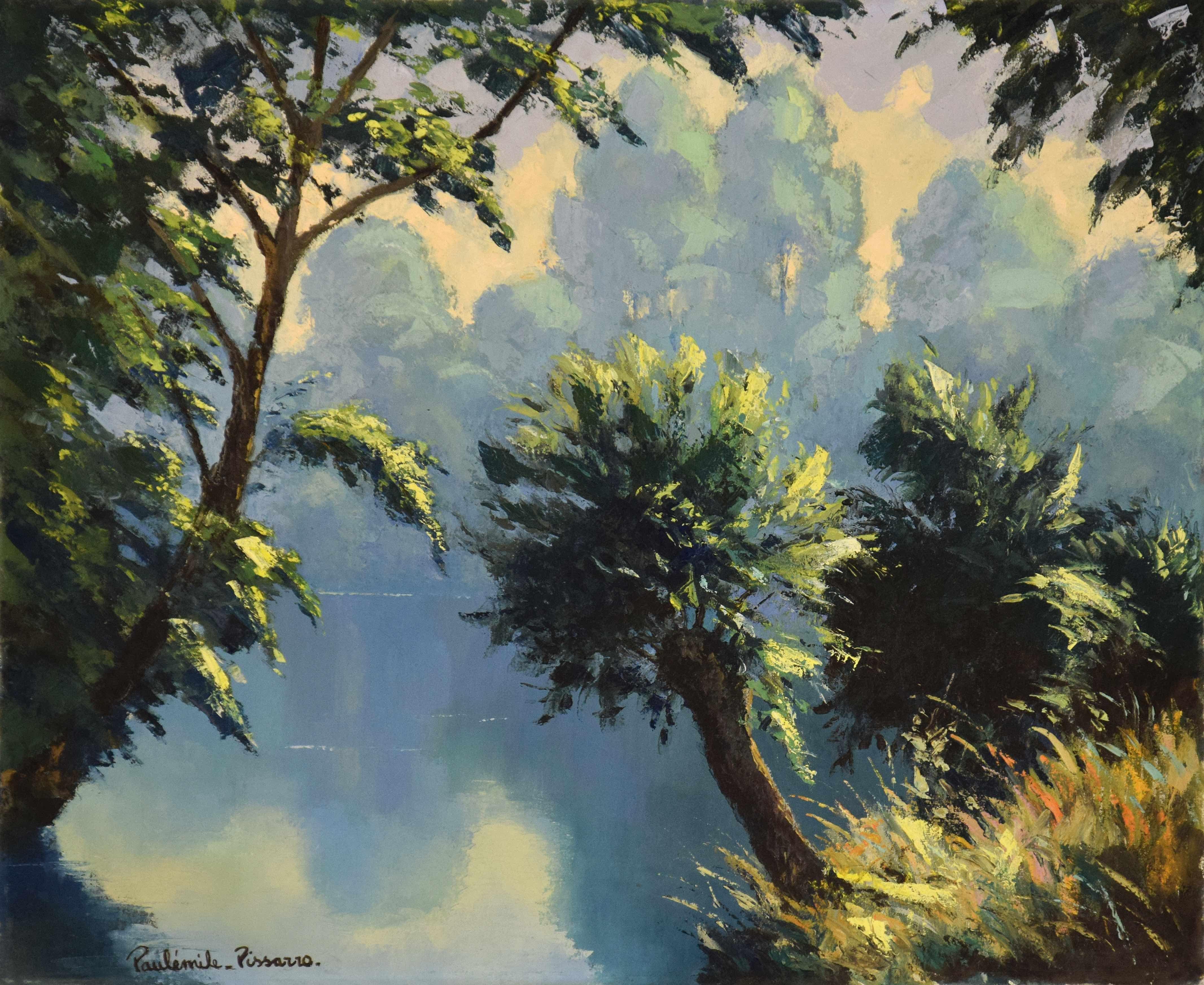 Brume Matinale by Paulémile Pissarro - Post-Impressionist  landscape painting