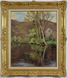 Cantepie en Avril by PAULÉMILE PISSARRO - Oil, Post-Impressionist, River scene
