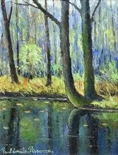 Foret du Lyons-Eure - 19th Century Post-Impressionist Landscape Oil by Pissarro