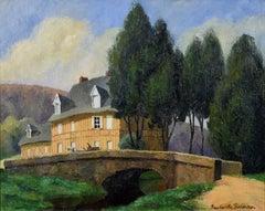 La Maison Normande au Bord du Ruisseau by PAULÉMILE PISSARRO - landscape art