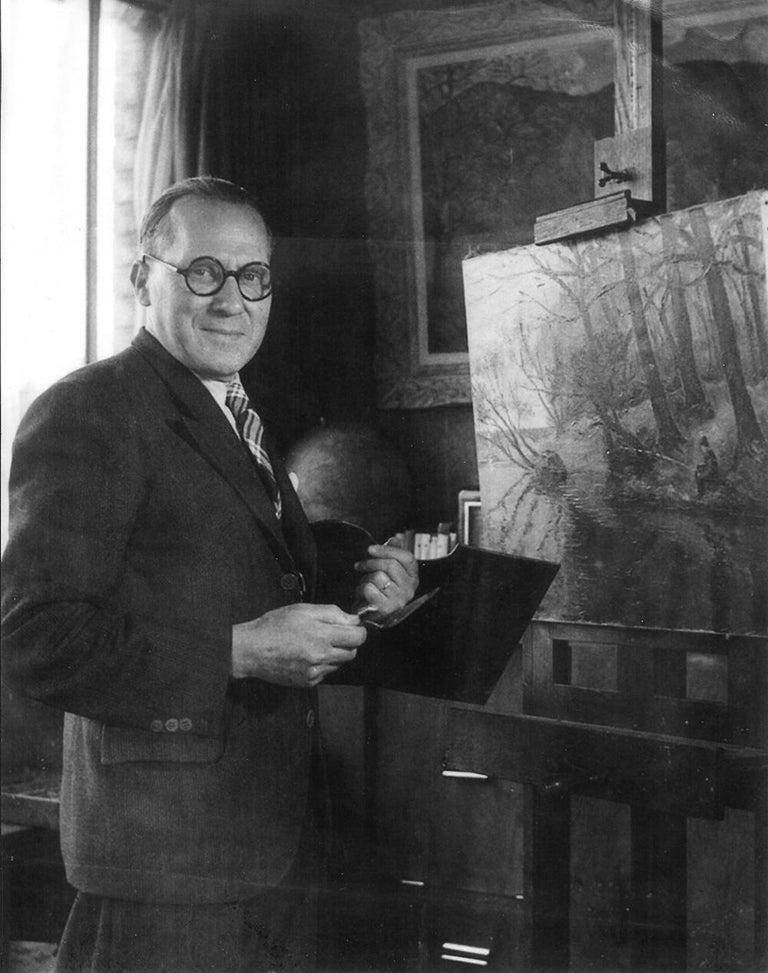 Landscape oil painting titled Lyons-la-Forêt by Paulémile Pissarro - Post-Impressionist Painting by Paul Emile Pissarro