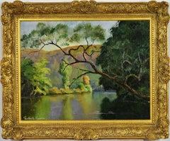 L'Arbre Penché by PAULÉMILE PISSARRO - Post-Impressionist landscape/waterscape