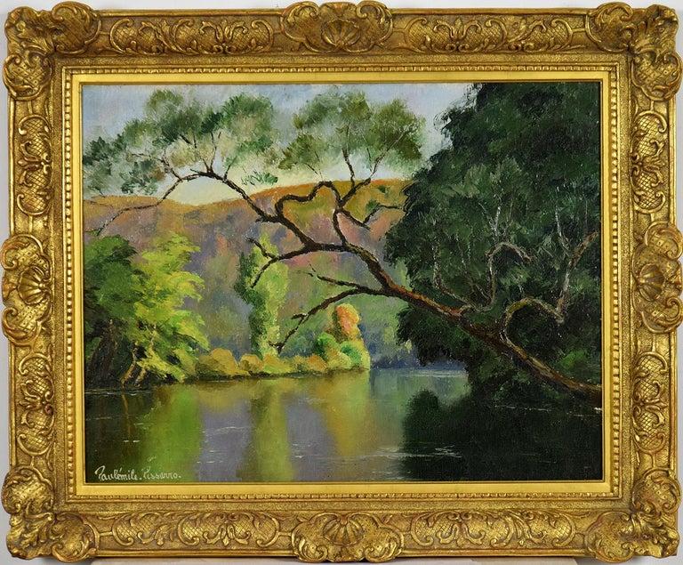 Paul Emile Pissarro Landscape Painting - L'Arbre Penché by PAULÉMILE PISSARRO - Post-Impressionist landscape/waterscape