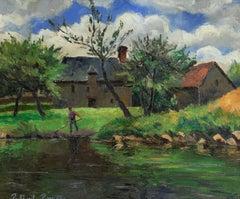 Le Faucheur by Paulémile Pissarro - Post-Impressionist landscape painting