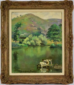 Le Pain de Sucre, Laveuse by Paulémile Pissarro - Post-Impressionist landscape