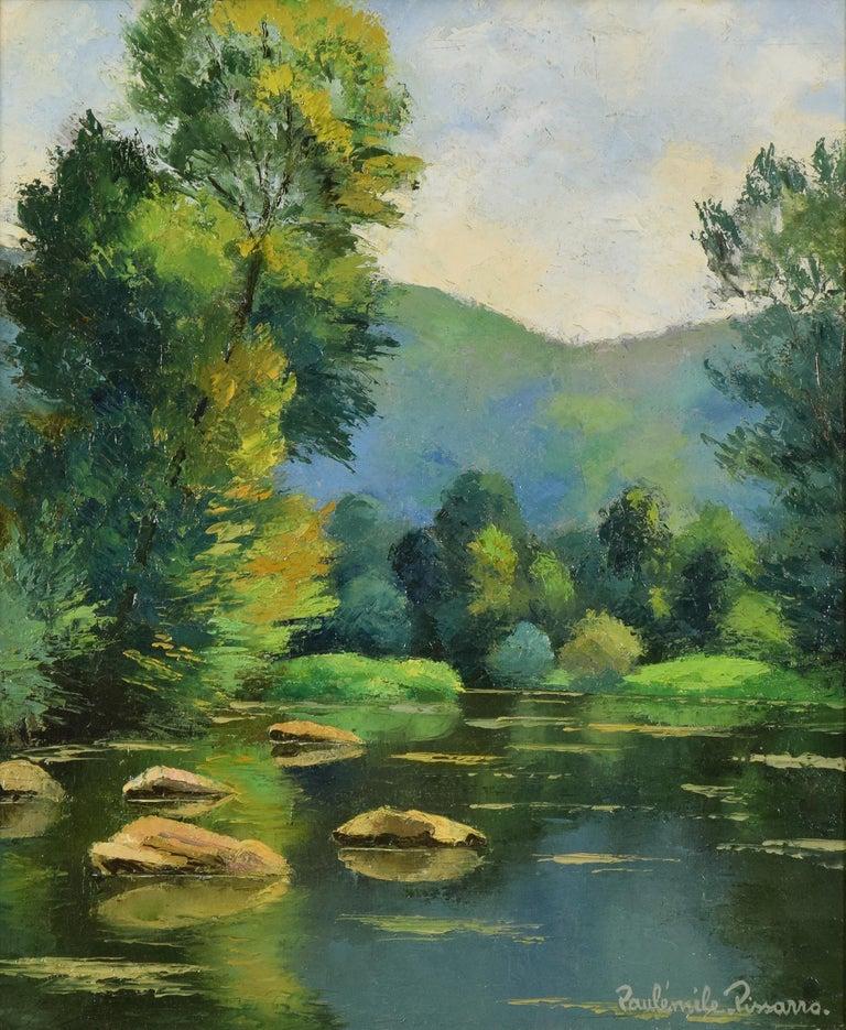 Les Pierres dans l'Orne, PAULÉMILE PISSARRO - Post-Impressionist, Oil,Landscape  - Painting by Paul Emile Pissarro