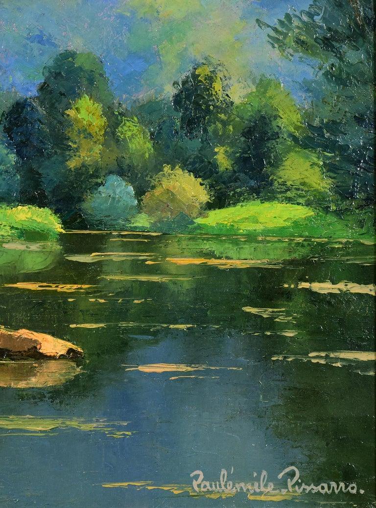 Les Pierres dans l'Orne, PAULÉMILE PISSARRO - Post-Impressionist, Oil,Landscape  For Sale 1