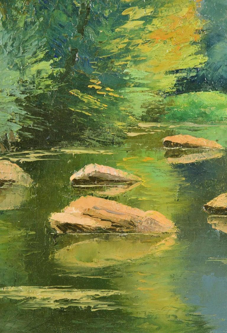 Les Pierres dans l'Orne, PAULÉMILE PISSARRO - Post-Impressionist, Oil,Landscape  For Sale 2