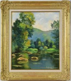 Les Pierres dans l'Orne, PAULÉMILE PISSARRO - Post-Impressionist, Oil,Landscape