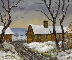 Neige à Clécy by Paulémile Pissarro - Post-Impressionist snow scene