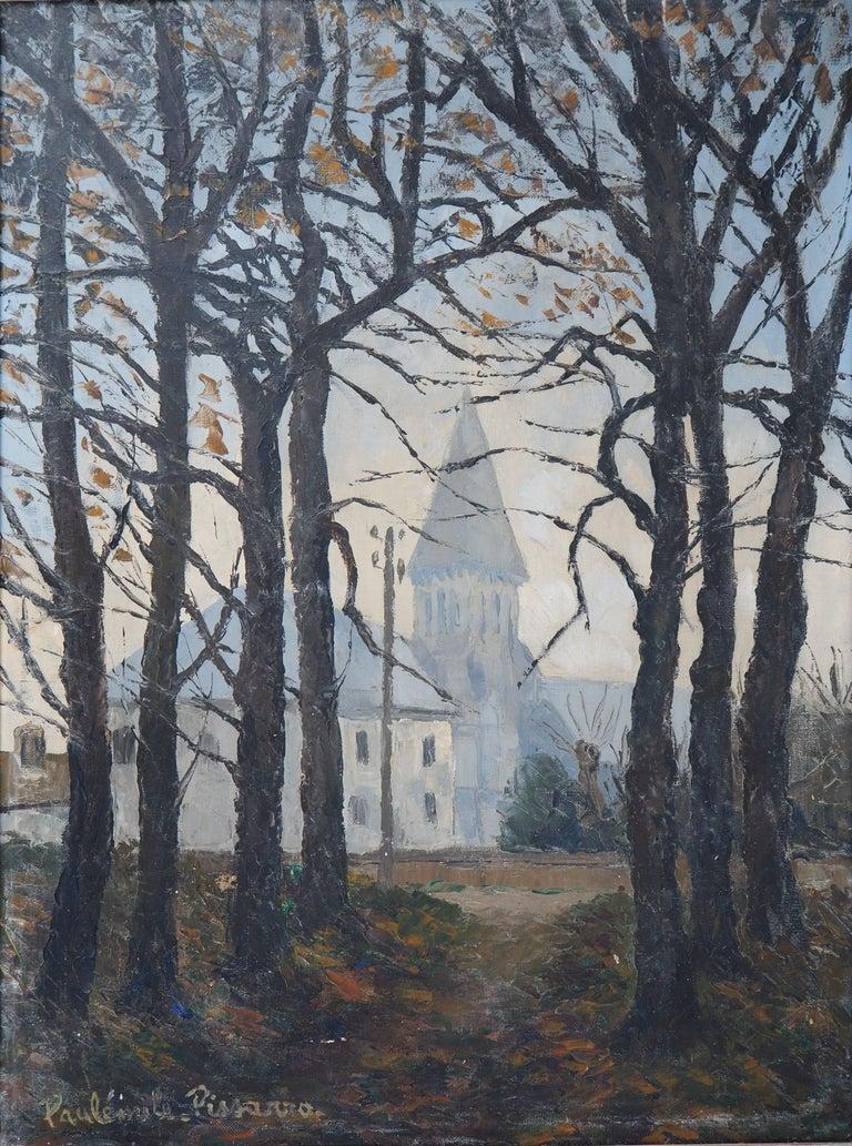 Paul Emile Pissarro Landscape Painting - Normandy : Church of St Denis - Original oil on canvas, Handsigned