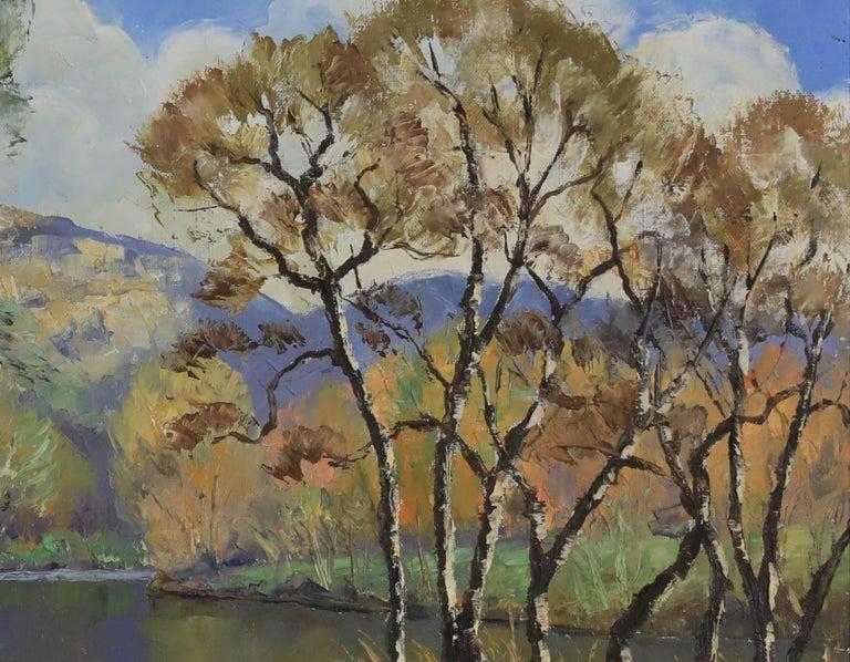 Oil painting by Paulémile Pissarro titled L'Orne et les Rochers de Saint Omer - Painting by Paul Emile Pissarro