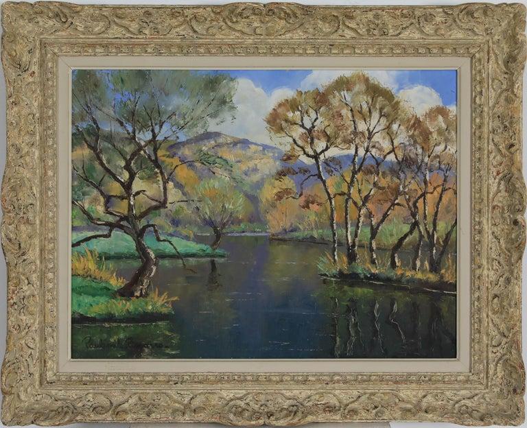 Paul Emile Pissarro Figurative Painting - Oil painting by Paulémile Pissarro titled L'Orne et les Rochers de Saint Omer