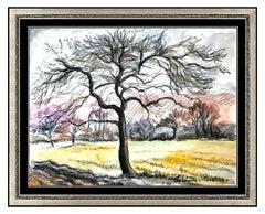 Paul Emile Pissarro Original Watercolor Painting Signed Landscape Authentic Art