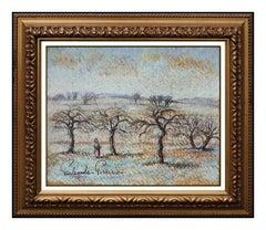 Paul Emile Pissarro Pastel Painting Original Signed Landscape Authentic Artwork
