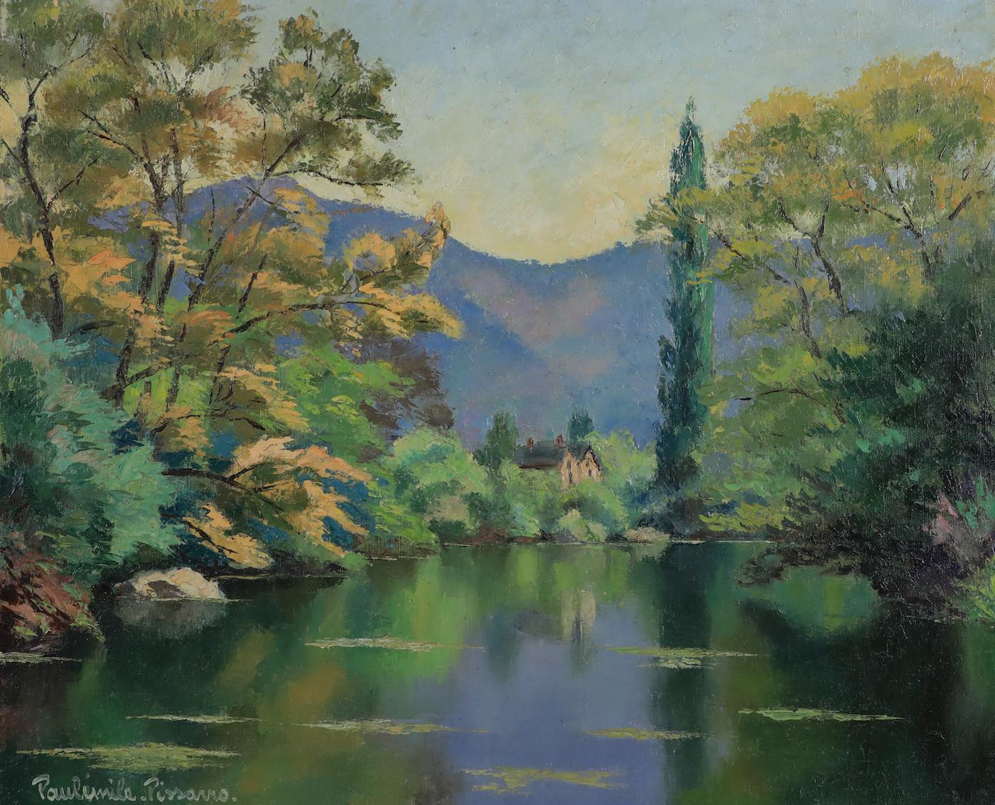 Printemps by Paulémile Pissarro - Post-Impressionist oil painting