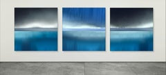 Triptych - Vision of an Underwater World in Nuances of Blue - Abstract Seascapes