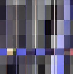 City _ Square, Blue, Grey, Pink, 24 x 24, 1/ 200 ed. (unframed)