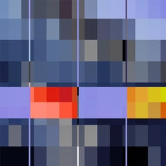 City _ Square, Violet, Red, Yellow 24 x 24, 1/ 200 ed. (unframed)