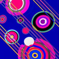 Organic Disk Shapes, Pink, Violet, 24 x 24, 1/ 200 ed. (unframed)