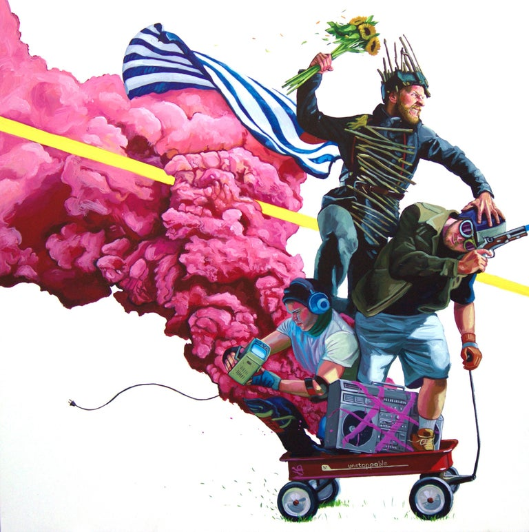 Joust - Contemporary Painting by Paul Endres Jr.
