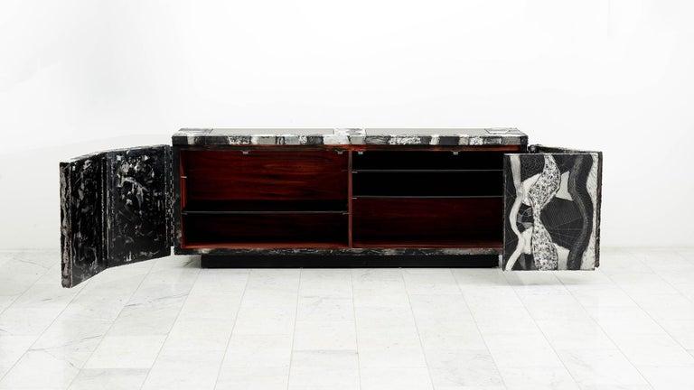 Aluminum Paul Evans Argente Console 'PE-41', USA For Sale