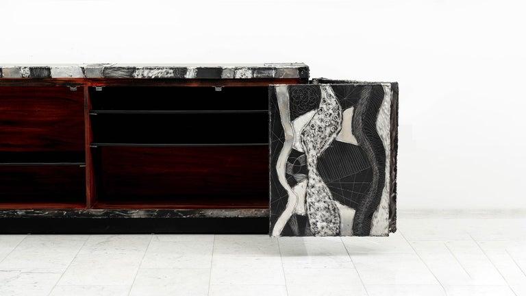 Paul Evans Argente Console 'PE-41', USA For Sale 1