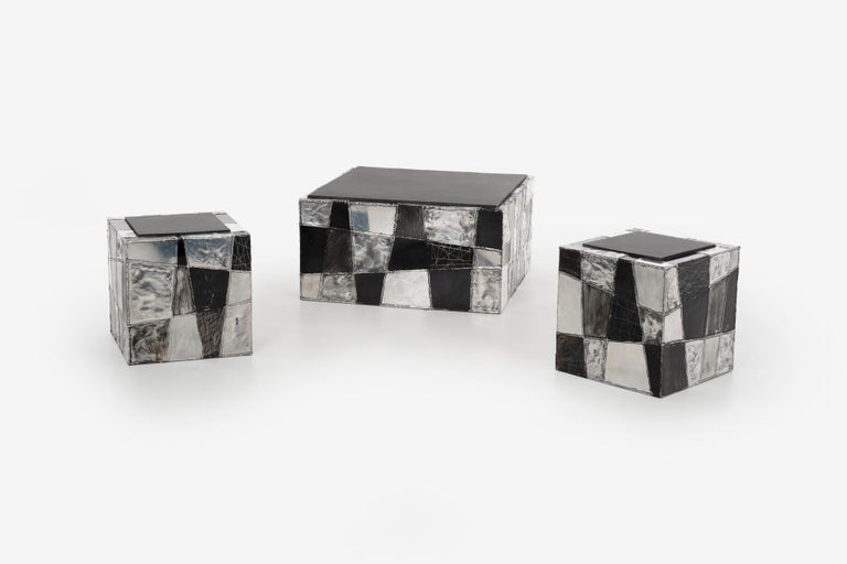 Paul Evans Argente Cube Coffee Table, Evans Studio for Directional For Sale 4