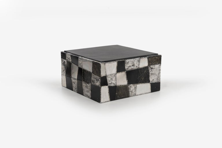 Mid-Century Modern Paul Evans Argente Cube Coffee Table, Evans Studio for Directional For Sale
