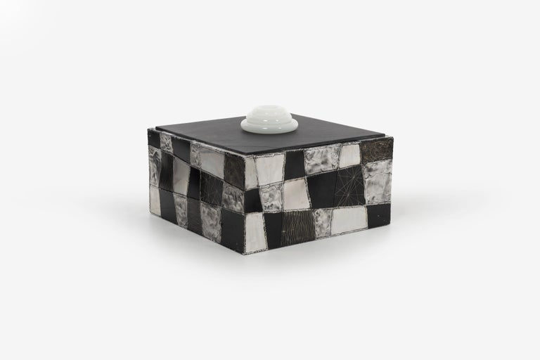 American Paul Evans Argente Cube Coffee Table, Evans Studio for Directional For Sale