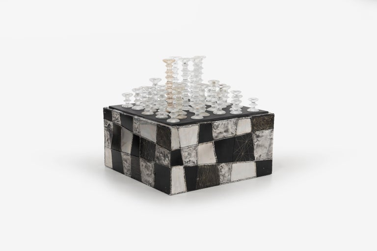 Painted Paul Evans Argente Cube Coffee Table, Evans Studio for Directional For Sale