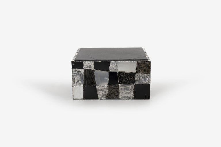 Paul Evans Argente Cube Coffee Table, Evans Studio for Directional In Good Condition For Sale In Chicago, IL
